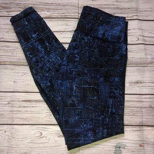 Lululemon Full Length Leggings Sz 10 blue black